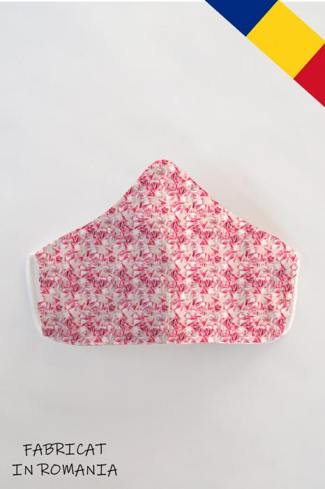 Masca bumbac cu filtru pentru adulti - Roz 0