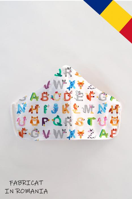 Masca bumbac cu filtru pentru copii - Abc 0