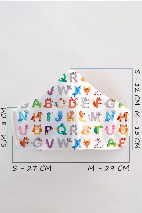 Masca bumbac cu filtru pentru copii - Abc 1