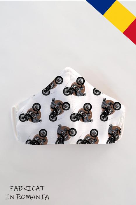 Masca bumbac cu filtru pentru copii - Motocicleta 0