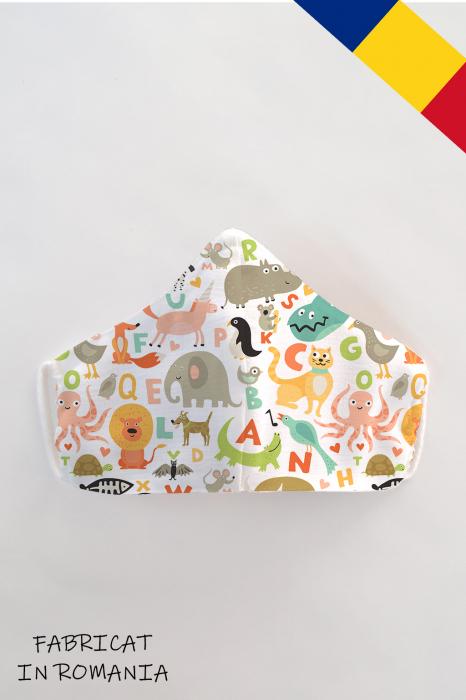 Masca bumbac cu filtru pentru copii - Animale 0