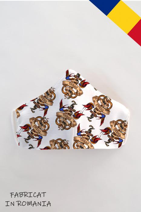 Masca bumbac cu filtru pentru copii - Ancora 0