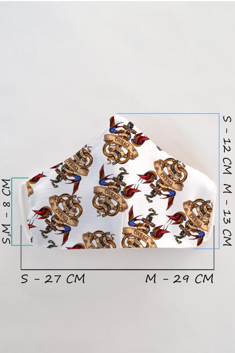 Masca bumbac cu filtru pentru copii - Ancora 1