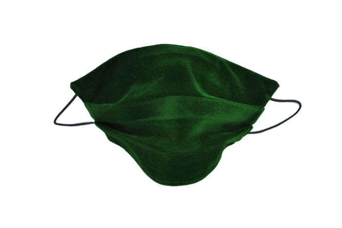 Masca bumbac pentru adulti fara filtru - Catifea Verde 0