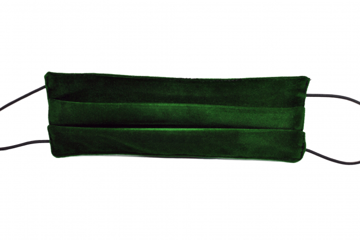 Masca bumbac pentru adulti fara filtru - Catifea Verde 1