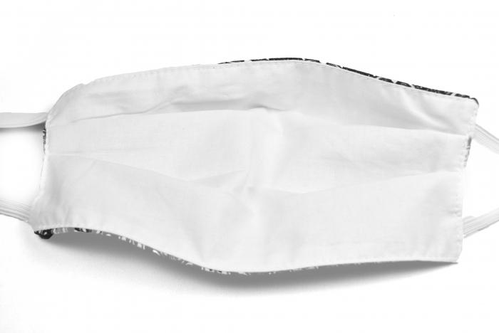 Masca bumbac pentru adulti fara filtru - Floral Crem 3