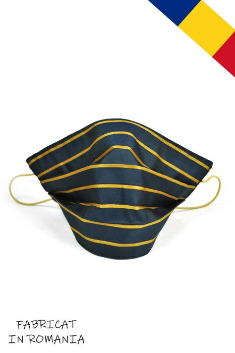 Masca bumbac pentru Copii  fara filtru- Dungi Galbene 0