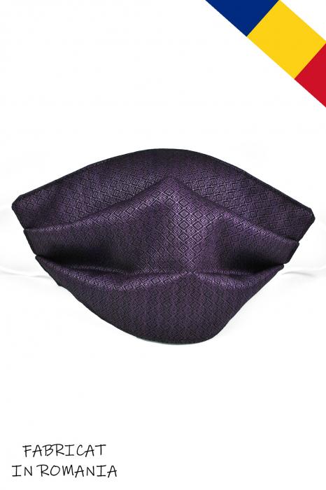Masca bumbac pentru copii - Mov Inchis 0