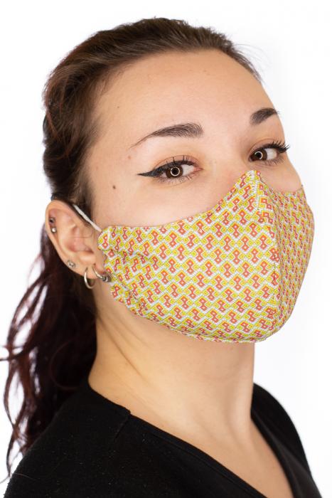 Masca bumbac cu filtru pentru adulti - Motiv 7 2