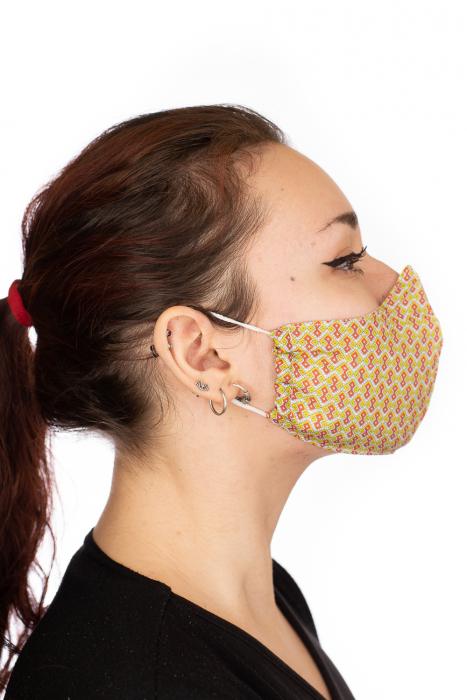 Masca bumbac cu filtru pentru adulti - Motiv 7 3