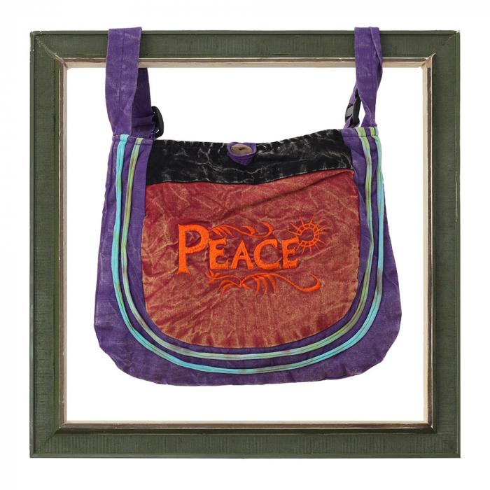 Mini geanta din bumbac - Peace 3 0