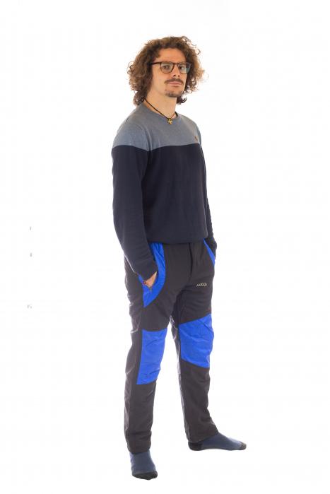 Pantaloni de drumetie captusiti de iarna - Black [2]