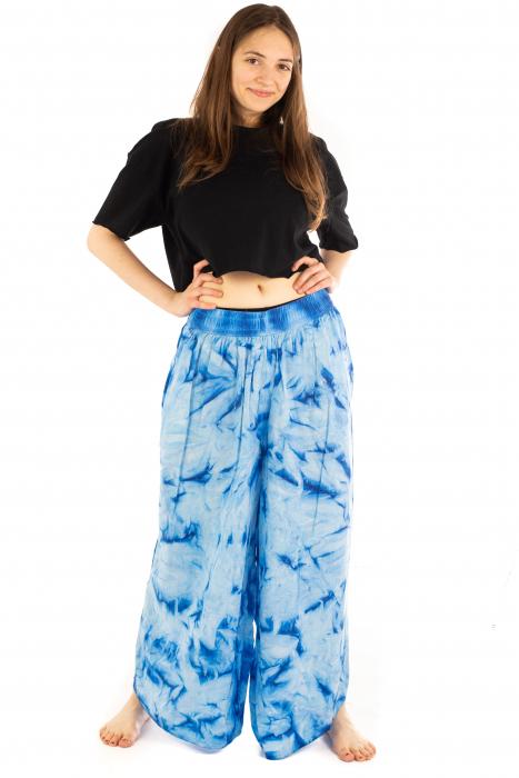 Pantaloni Tie-Dye - Albastru [6]