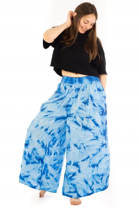Pantaloni Tie-Dye - Albastru [4]