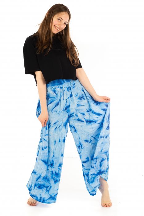 Pantaloni Tie-Dye - Albastru [5]
