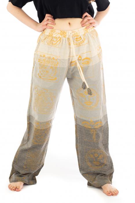 Pantaloni lejeri crem - Heart of Hinduism [0]