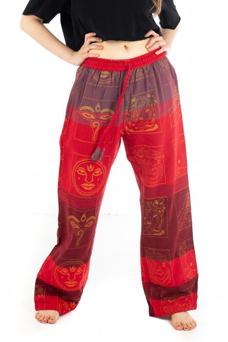Pantaloni lejeri rosii - Heart of Hinduism [0]
