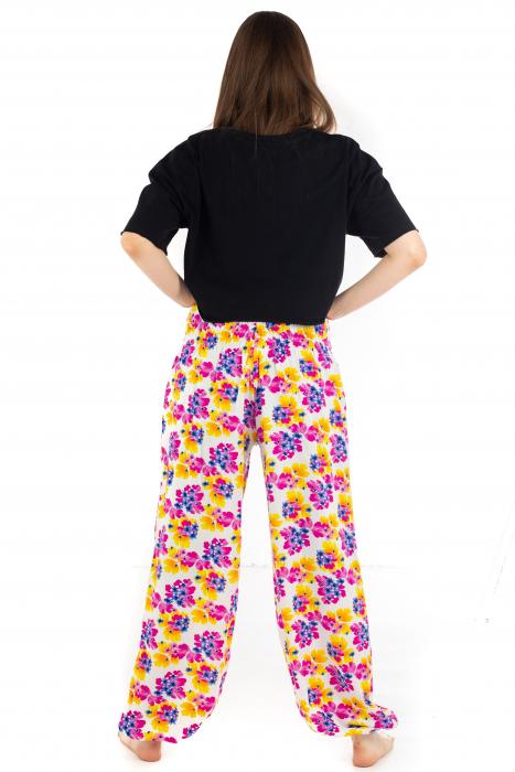 Pantaloni cu banda elastica - Painted Flowers [3]