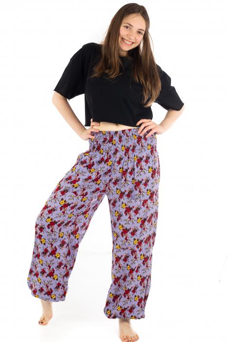 Pantaloni cu banda elastica - Trandafiri [4]