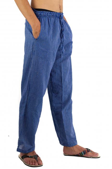 Pantaloni cu dungi - Bleumarin [5]