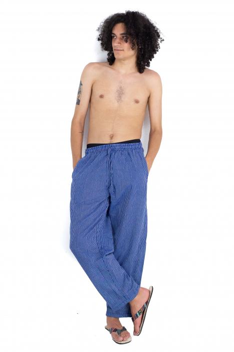 Pantaloni cu dungi - Bleumarin [7]