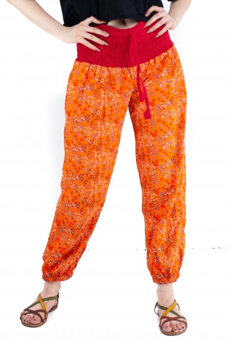 Pantaloni cu print - Grapefruit [0]