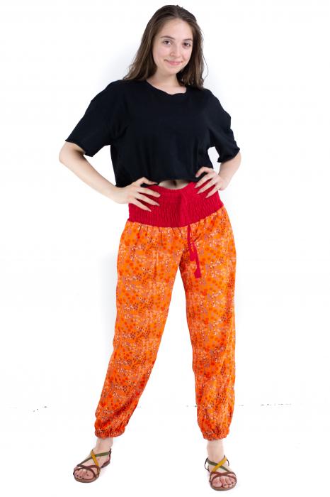 Pantaloni cu print - Grapefruit [1]