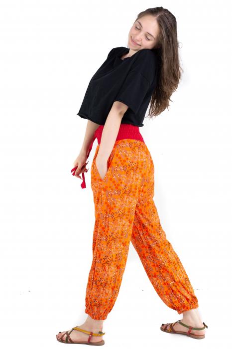 Pantaloni cu print - Grapefruit [2]