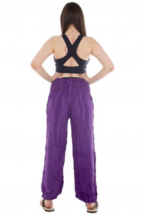 Pantaloni cu talie inalta - Purple [3]
