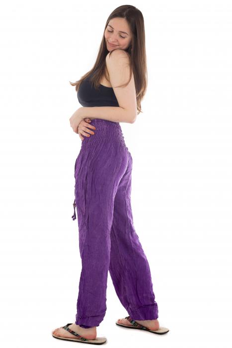 Pantaloni cu talie inalta - Purple [2]