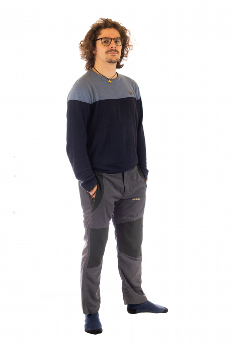 Pantaloni de drumetie - Gri cu negru 2