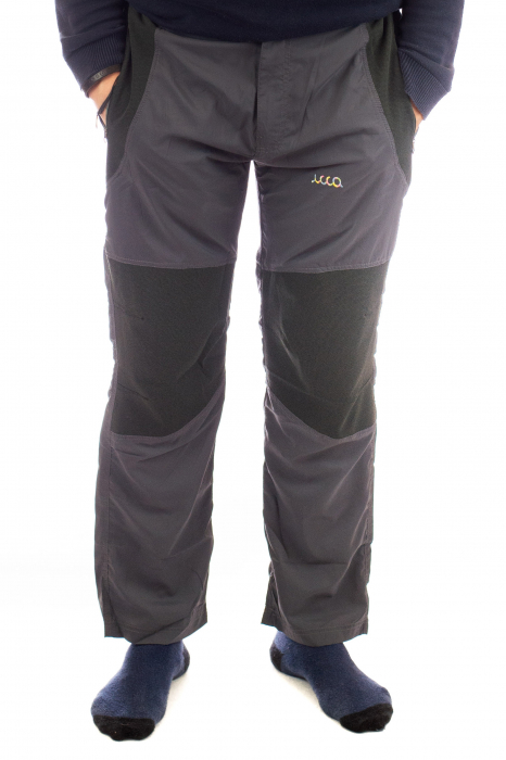 Pantaloni de drumetie - Gri cu negru 0