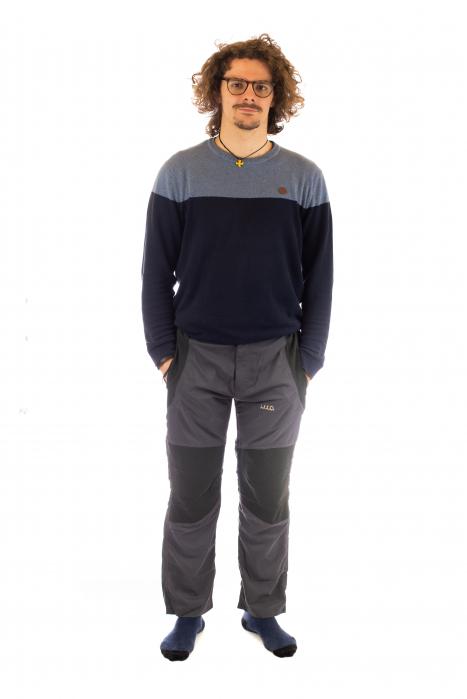 Pantaloni de drumetie - Gri cu negru 1