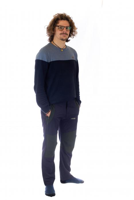 Pantaloni de drumetie - Verde cu negru 2