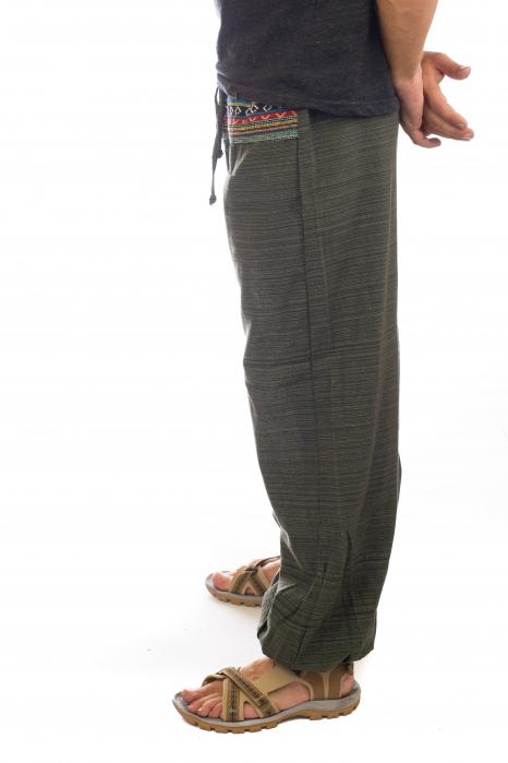 Pantaloni din bumbac cu buzunar exterior - Model 1 2