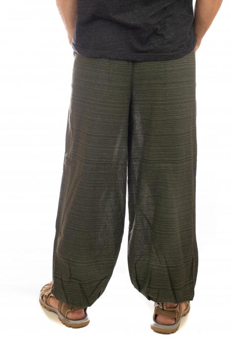 Pantaloni din bumbac cu buzunar exterior - Model 1 3