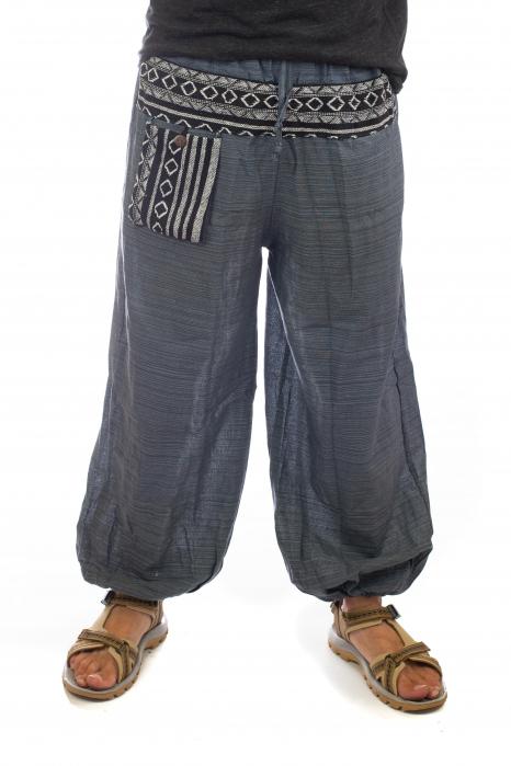 Pantaloni din bumbac cu buzunar exterior - Model 3 0