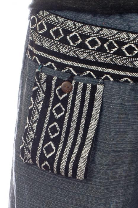 Pantaloni din bumbac cu buzunar exterior - Model 3 1