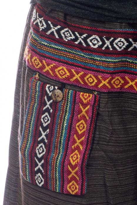 Pantaloni din bumbac cu buzunar exterior - Model 4 1