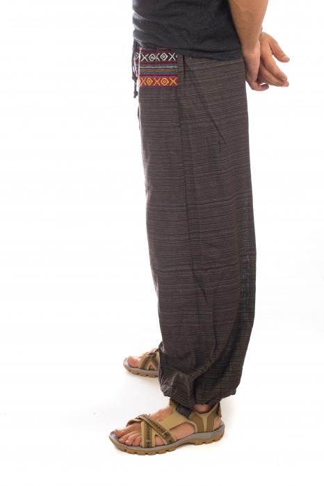 Pantaloni din bumbac cu buzunar exterior - Model 4 2