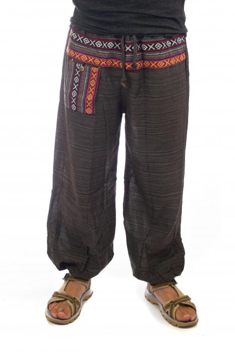 Pantaloni din bumbac cu buzunar exterior - Model 4 0