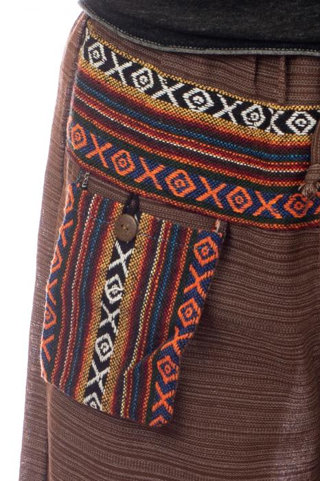 Pantaloni din bumbac cu buzunar exterior - Model 6 1