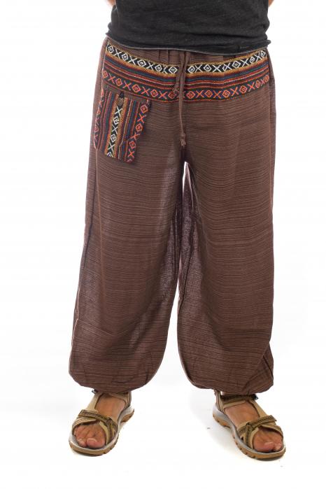 Pantaloni din bumbac cu buzunar exterior - Model 6 0