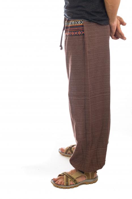 Pantaloni din bumbac cu buzunar exterior - Model 6 2