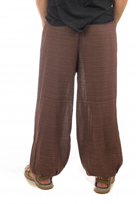 Pantaloni din bumbac cu buzunar exterior - Model 6 3