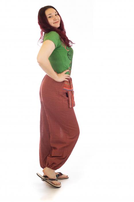 Pantaloni din bumbac cu buzunar exterior - Model 7 [3]