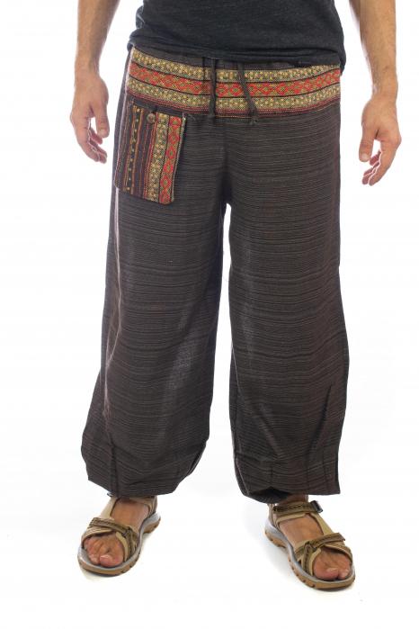 Pantaloni din bumbac cu buzunar exterior - Model 8 0
