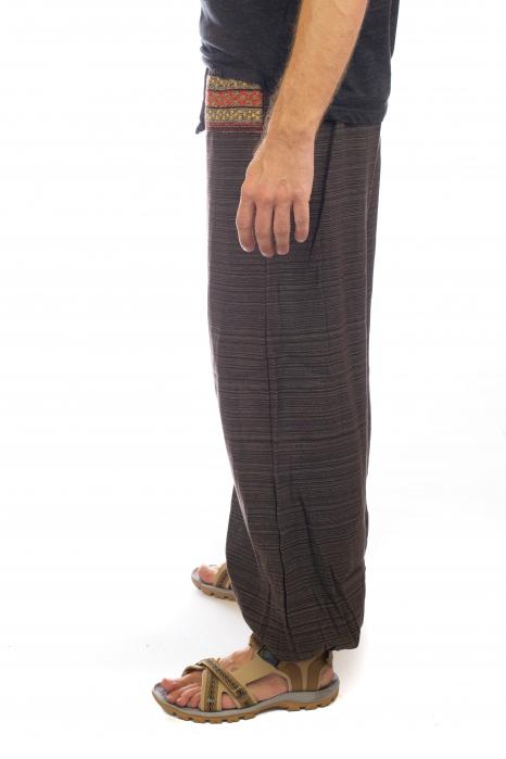 Pantaloni din bumbac cu buzunar exterior - Model 8 2