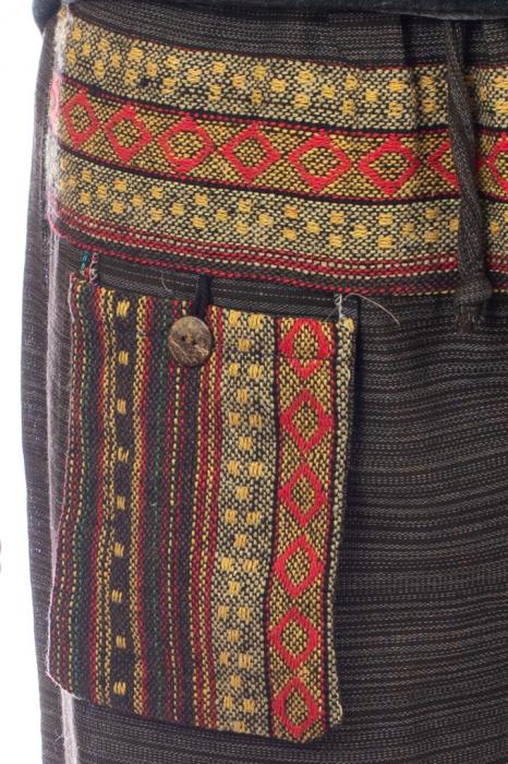Pantaloni din bumbac cu buzunar exterior - Model 8 1
