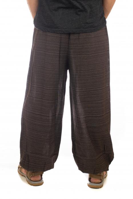 Pantaloni din bumbac cu buzunar exterior - Model 8 3
